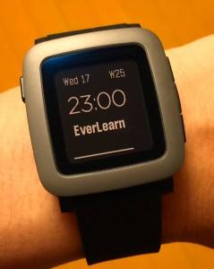 EverLearn on Pebble Time