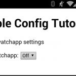 Pebble WatchApp の設定をスマホから変更可能にする