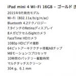 開発用iPad比較検討2016